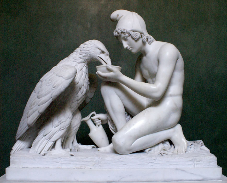 Bertel Thorvaldsen - Ganymede e Zeus, 1817