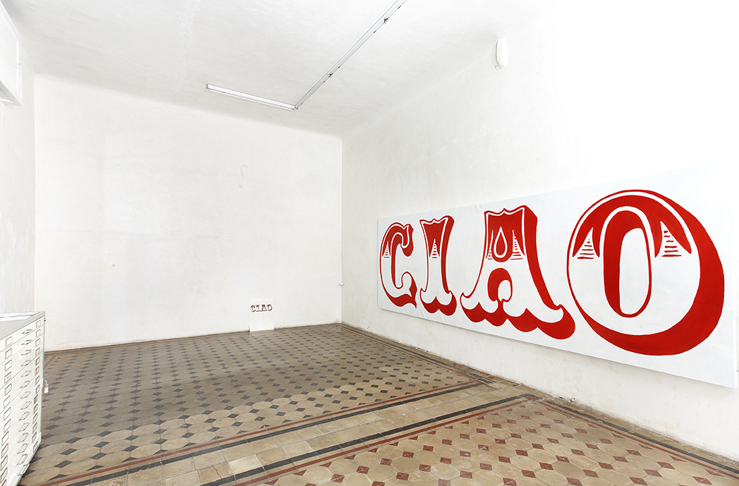 Thomas Berra, Ciao, exhibition view, ROOM Galleria, 2012