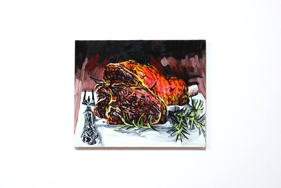Archie Franks, Roast Lamb, oil on canvas