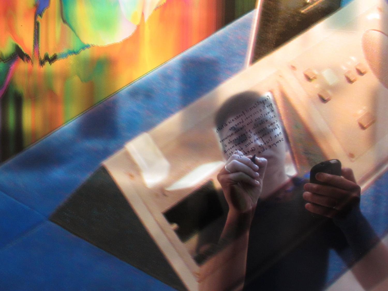 m, The work of an artist, performance, 2015