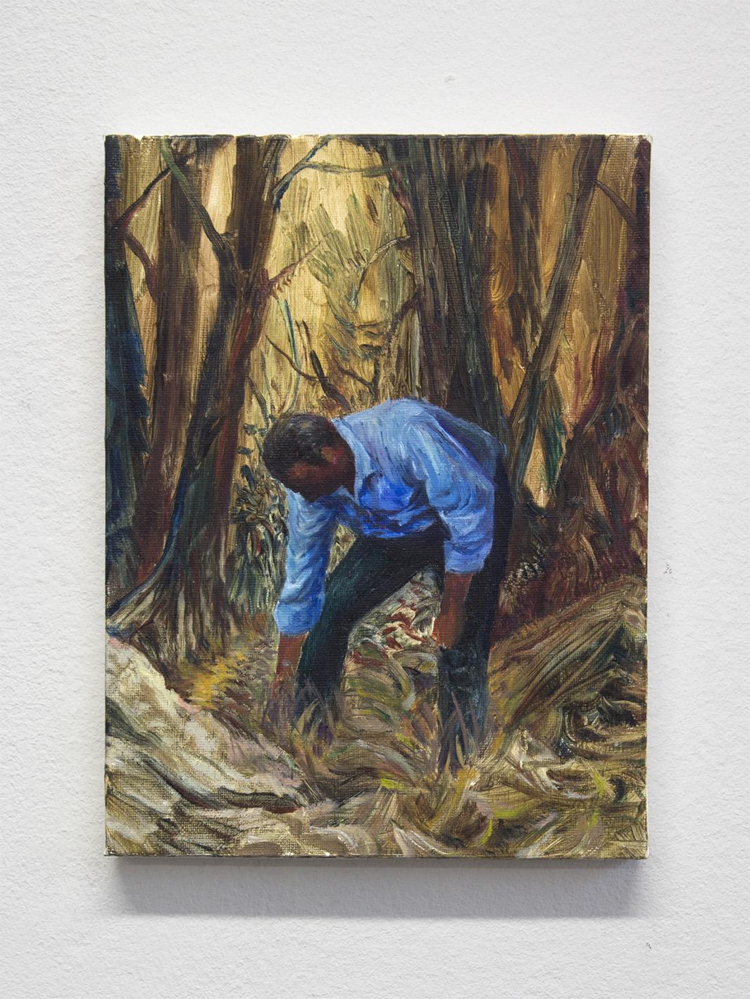 Luca De Angelis, Senza titolo, olio su tela, 24x18 cm, 2015