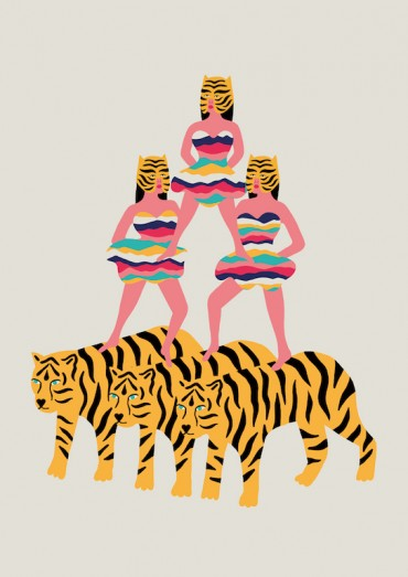 Michela Picchi .  Tiger Twins .  Fine Art Print Epson Ultra Chrome K3 Vivid Magenta High Gloss