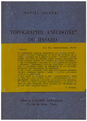 Topographie anecdotèe du hasard (Daniel Spoerri)