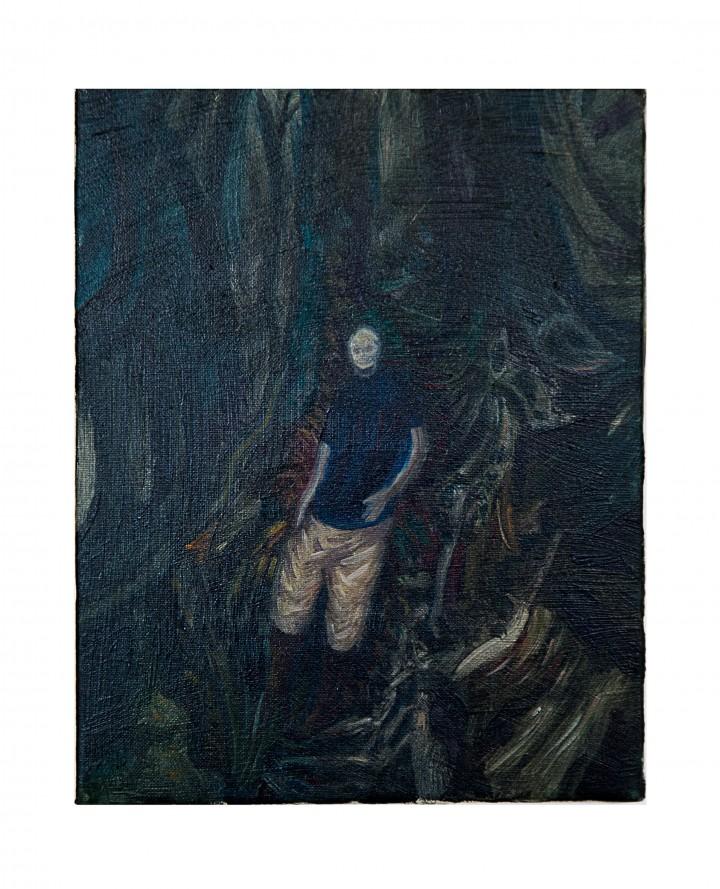 Luca De Angelis, olio su tela