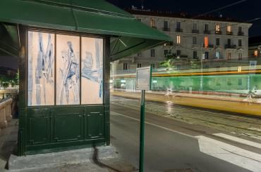 Vincenzo Simone - Ho visto il sole basso macchiato di errori, 2016, Edicola Radetzky Milano (foto Maurangelo Quagliarella)