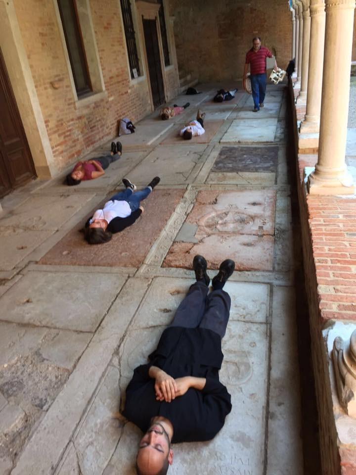 24/09/16 San Francesco della Vigna, esercizio di dormizione, foto di Josep-Maria Martin