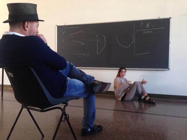 Giorgia Antonioli, studentessa di Architettura IUAV con Josep-Maria Martin, Ca' Tron, IUAV