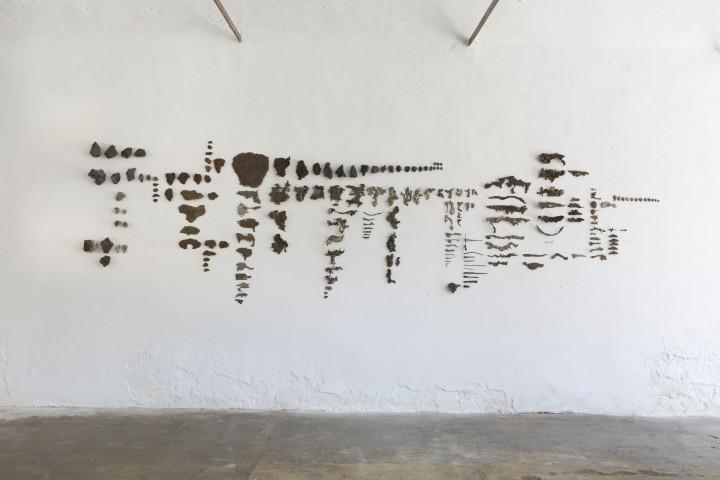 Andrea Bocca Scelfer, 2016, Installazione, Collezione di scarti industriali [work in progress], Dimensioni variabili
