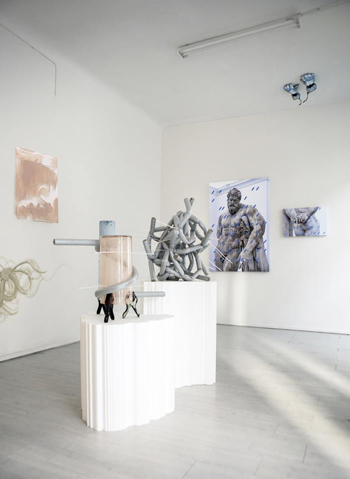 Nicola Gobbetto, Hands up, Hands tied. Installation view right side