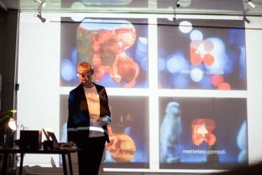 Performance Biscione, Forza Impero Latino, lecture di Mirko Pajé, foto di Giacomo Pederiva
