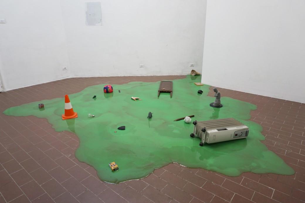 Paolo Bufalini e Daniele Pulze, Grande Slime, installation view, 2017