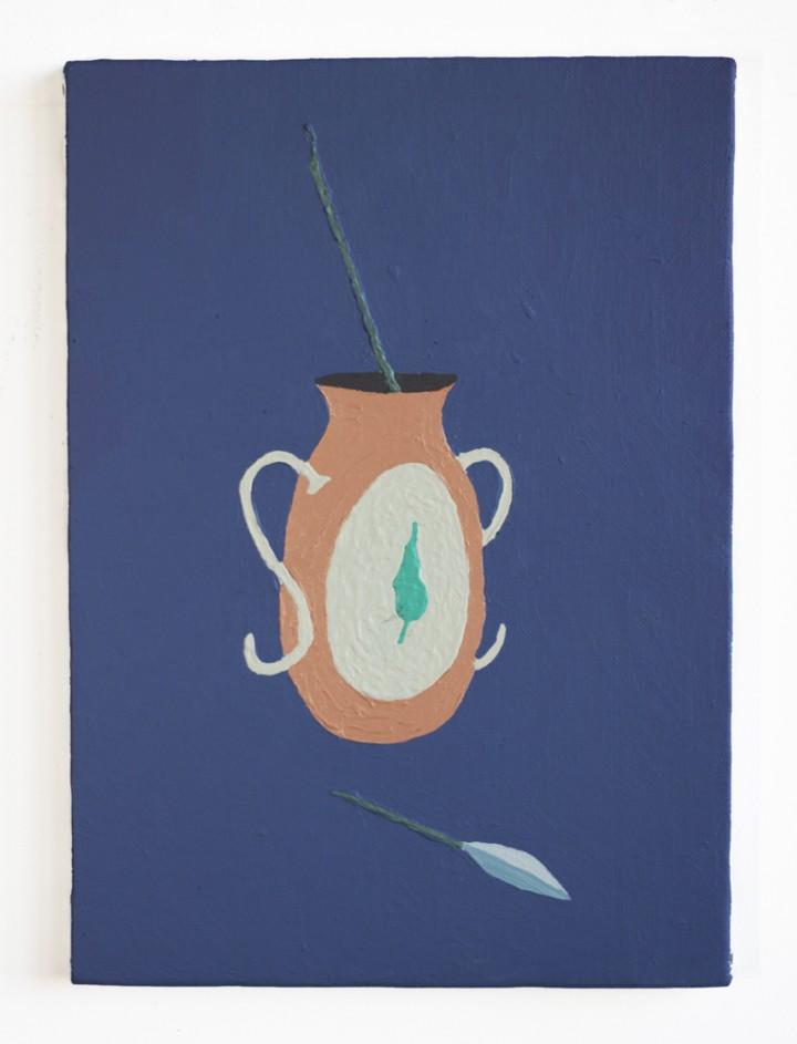 Giacomo Montanelli- Disfatta, 25x35 cm, acrilico su tela, 2018